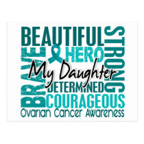 Tribute Square Daughter Ovarian Cancer Postcard