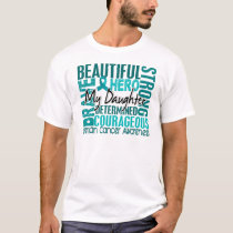 Tribute Square Daughter Ovarian Cancer T-Shirt