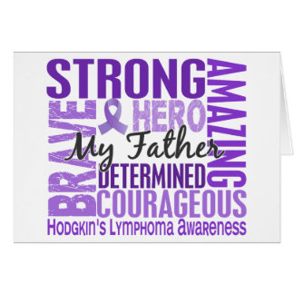 Tribute Square Father Hodgkins Lymphoma Card