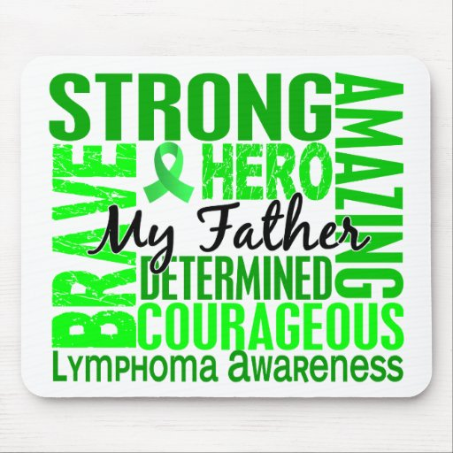 Tribute Square Father Lymphoma Mouse Pad