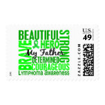 Tribute Square Father Lymphoma Postage Stamps