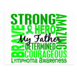 Tribute Square Father Lymphoma Postcard