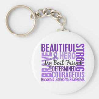 Tribute Square Female Best Friend Hodgkins Lymphom Basic Round Button Keychain