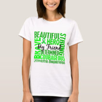 Tribute Square Female Friend Lymphoma T-Shirt