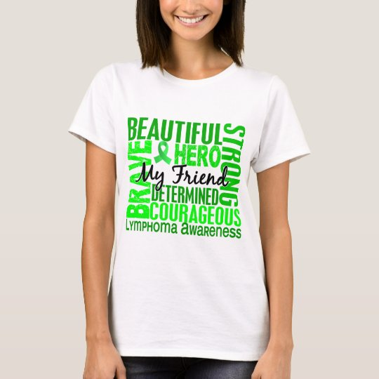 Tribute Square Female Friend Lymphoma T-Shirt