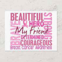 Tribute Square Friend Breast Cancer Postcard