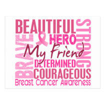 Tribute Square Friend Breast Cancer Postcard
