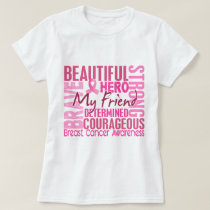 Tribute Square Friend Breast Cancer T-Shirt