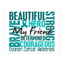 Tribute Square Friend Ovarian Cancer Postcard