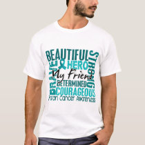 Tribute Square Friend Ovarian Cancer T-Shirt