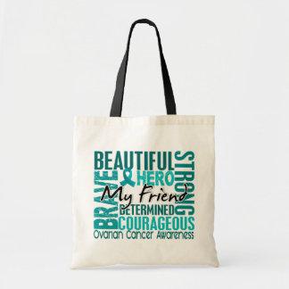 Tribute Square Friend Ovarian Cancer Tote Bag