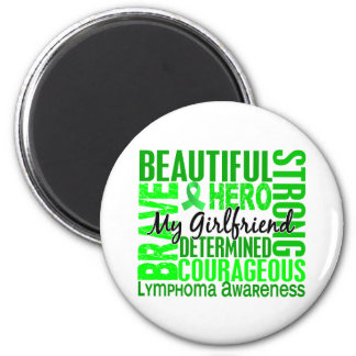 Tribute Square Girlfriend Lymphoma 2 Inch Round Magnet