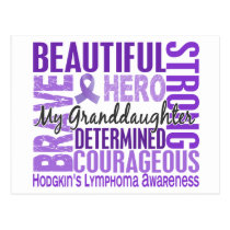 Tribute Square Granddaughter Hodgkins Lymphoma Postcard