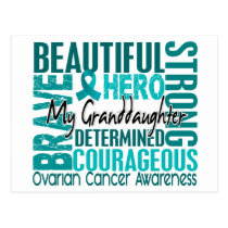 Tribute Square Granddaughter Ovarian Cancer Postcard
