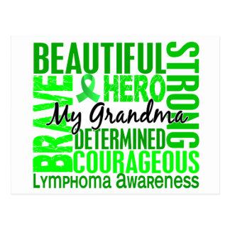 Tribute Square Grandma Lymphoma Postcard