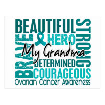 Tribute Square Grandma Ovarian Cancer Postcard