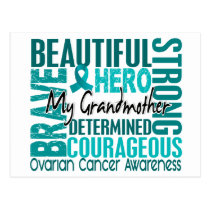 Tribute Square Grandmother Ovarian Cancer Postcard