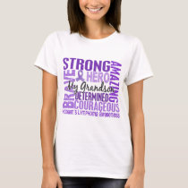 Tribute Square Grandson Hodgkins Lymphoma T-Shirt