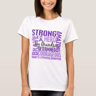 Tribute Square Grandson Hodgkins Lymphoma T-Shirt