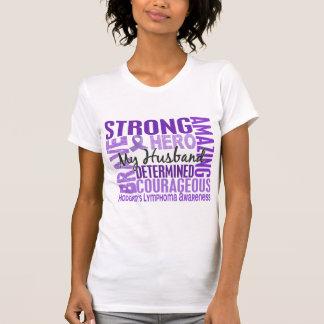 Tribute Square Husband Hodgkins Lymphoma T-Shirt