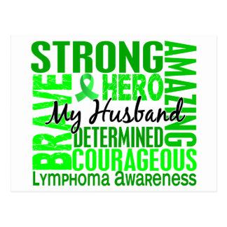 Tribute Square Husband Lymphoma Postcard