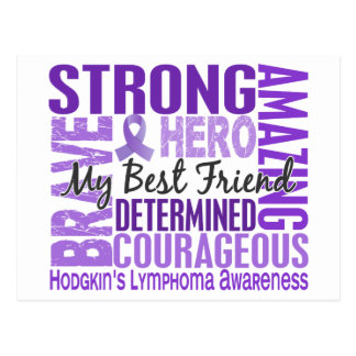 Tribute Square Male Best Friend Hodgkins Lymphoma Postcard