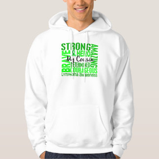 Tribute Square Male Cousin Lymphoma Hoodie