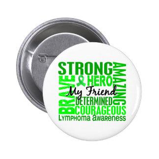 Tribute Square Male Friend Lymphoma 2 Inch Round Button