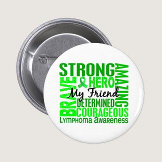 Tribute Square Male Friend Lymphoma Pinback Button