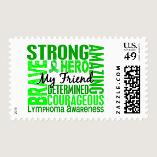 Tribute Square Male Friend Lymphoma Postage