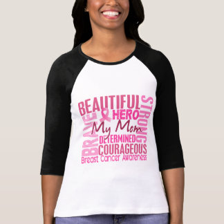 Tribute Square Mom Breast Cancer T-Shirt