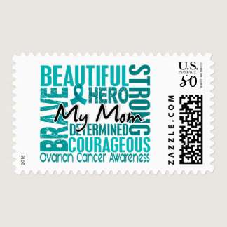Tribute Square Mom Ovarian Cancer Postage