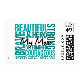 Tribute Square Mom Ovarian Cancer Postage Stamp