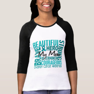 Tribute Square Mom Ovarian Cancer T Shirts