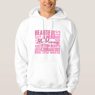 Tribute Square Mommy Breast Cancer Hoodie