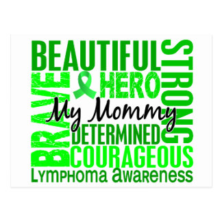 Tribute Square Mommy Lymphoma Postcard