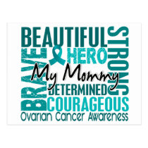 Tribute Square Mommy Ovarian Cancer Postcard