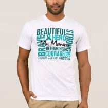 Tribute Square Mommy Ovarian Cancer T-Shirt