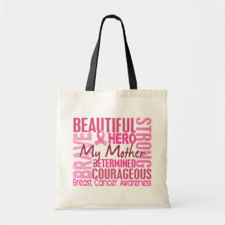 Tribute Square Mother Breast Cancer Tote Bags