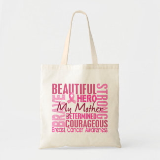 Tribute Square Mother Breast Cancer Canvas Bags