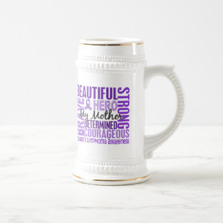 Tribute Square Mother Hodgkins Lymphoma Beer Stein
