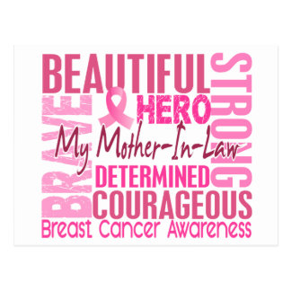 Tribute Square Mother-In-Law Breast Cancer Postcard