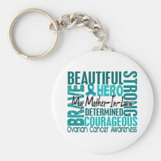 Tribute Square Mother-In-Law Ovarian Cancer Keychain