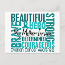 Tribute Square Mother-In-Law Ovarian Cancer Postcard