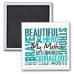 Tribute Square Mother Ovarian Cancer 2 Inch Square Magnet
