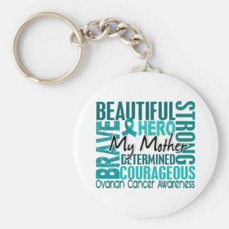 Tribute Square Mother Ovarian Cancer Key Chain