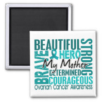Tribute Square Mother Ovarian Cancer Magnet