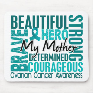 Tribute Square Mother Ovarian Cancer Mouse Pad