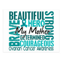 Tribute Square Mother Ovarian Cancer Postcard