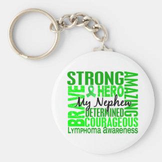 Tribute Square Nephew Lymphoma Keychain